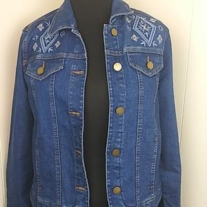 Allison Daley Embroidered Jean Jacket